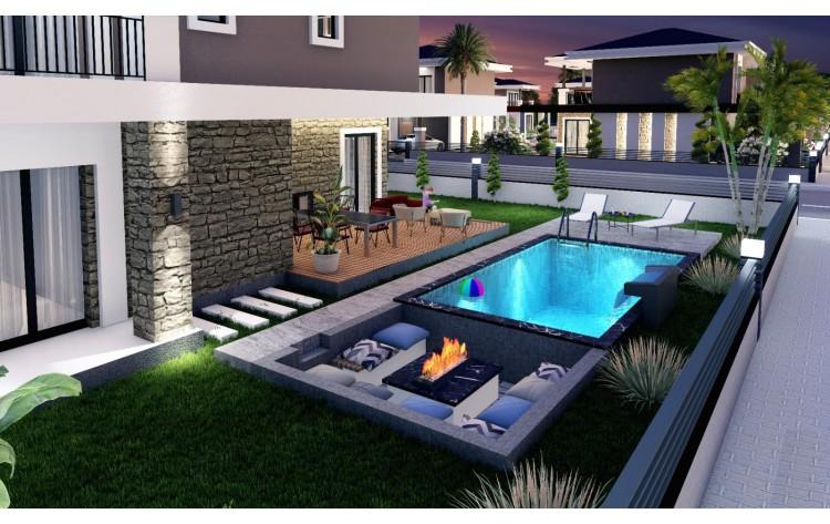 Luxe villa's met privé zwembad vlakbij strand.